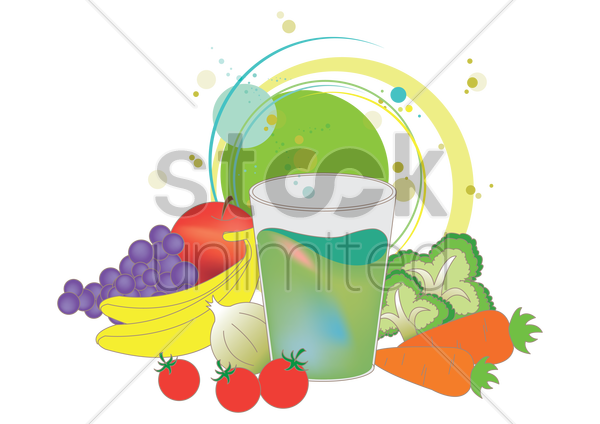 healthy eating concept vector graphic