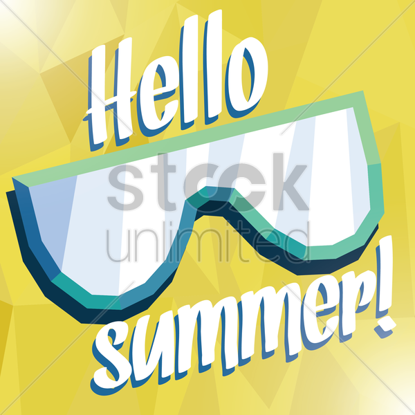 hello summer card vector graphic