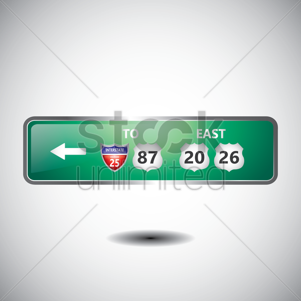 highway route sign vector graphic