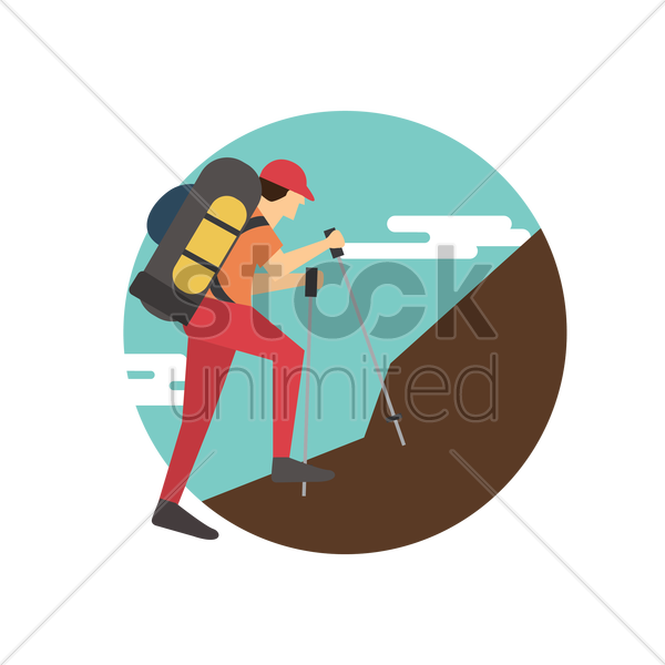 Free hiker vector graphic