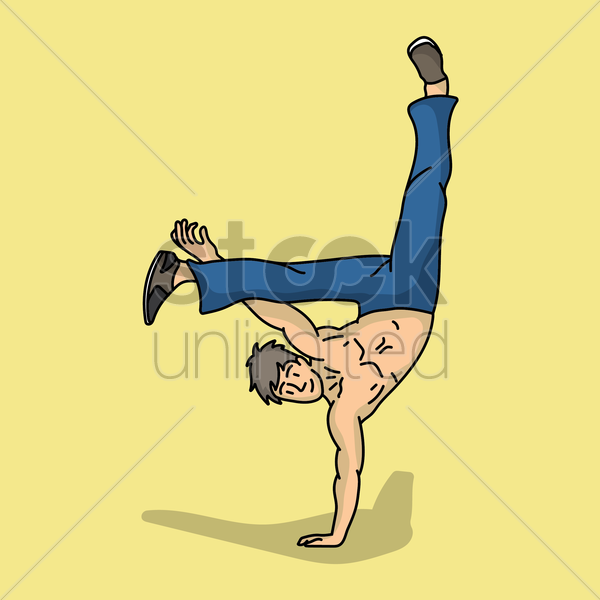 hip hop dancer vector graphic