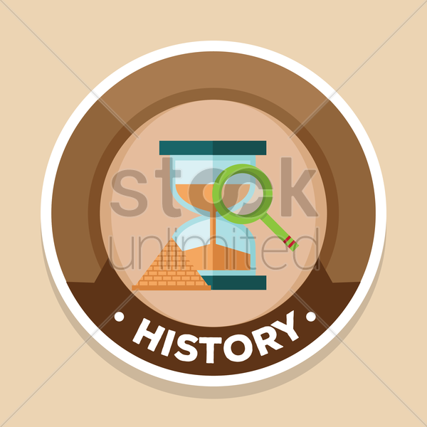 history label vector graphic