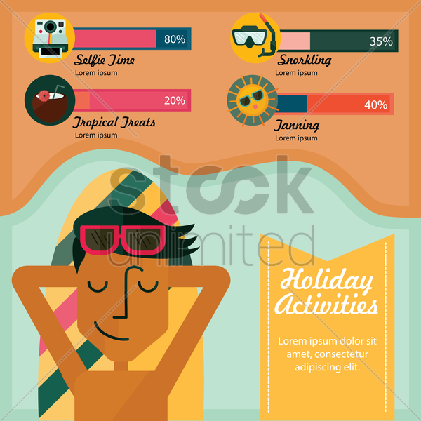 holiday activities infographic vector graphic