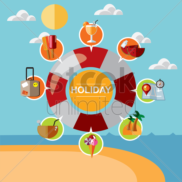 holiday infographic vector graphic