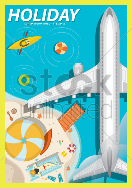 holiday poster design vector graphic