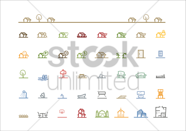 home and interior vector graphic