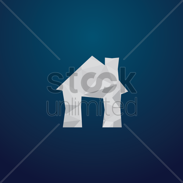 Free home icon vector graphic