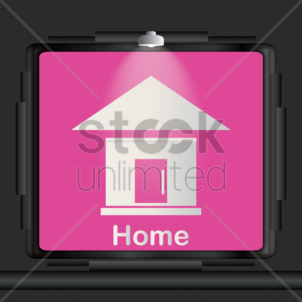 home icon vector graphic