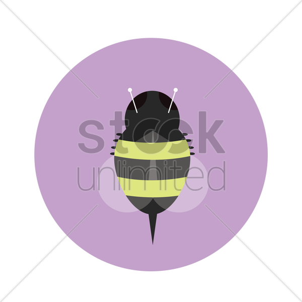 Free honey bee vector graphic
