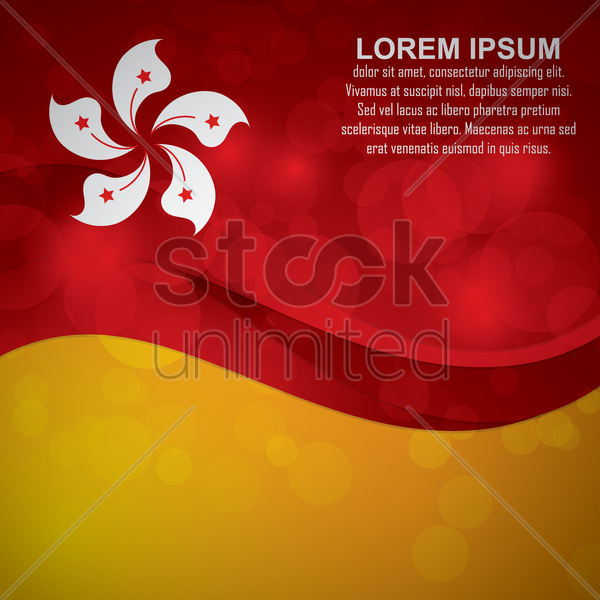 hong kong flag background vector graphic