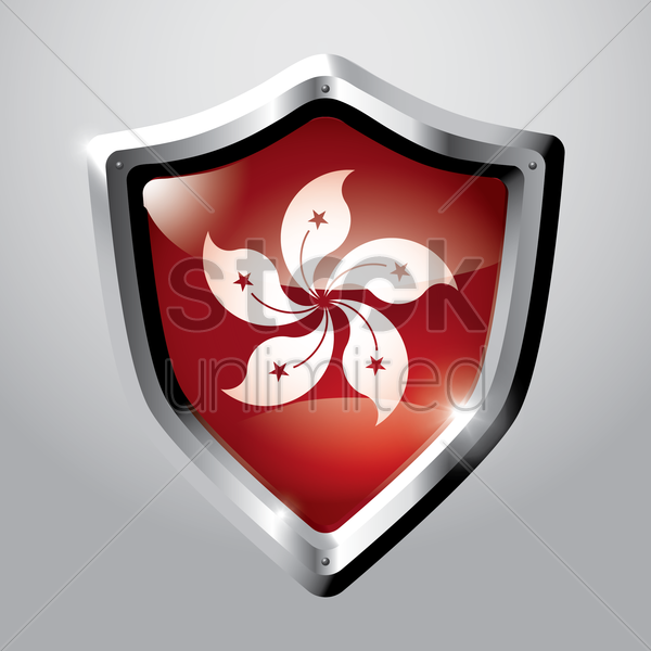 hong kong flag icon vector graphic