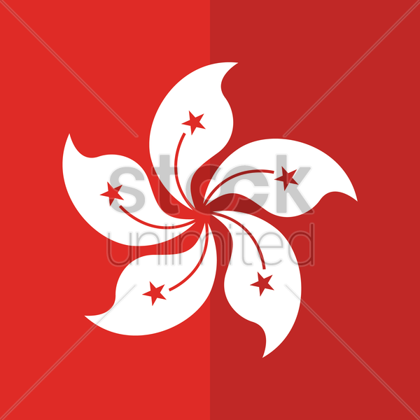 hong kong wallpaper vector graphic