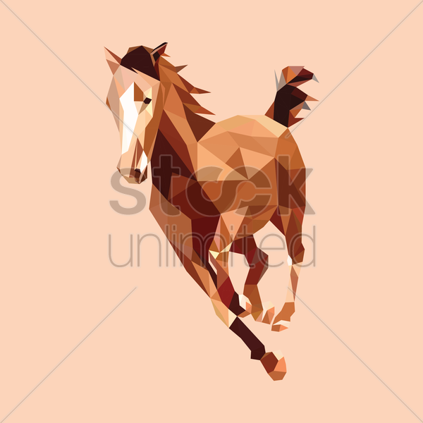 horse vector graphic