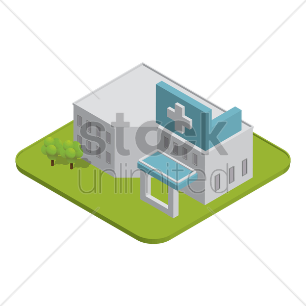 hospital building vector graphic
