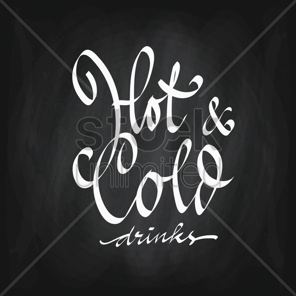 hot and cold drinks vector graphic