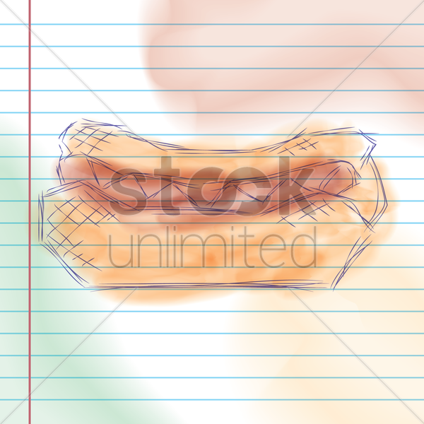 hot dog sketch vector graphic