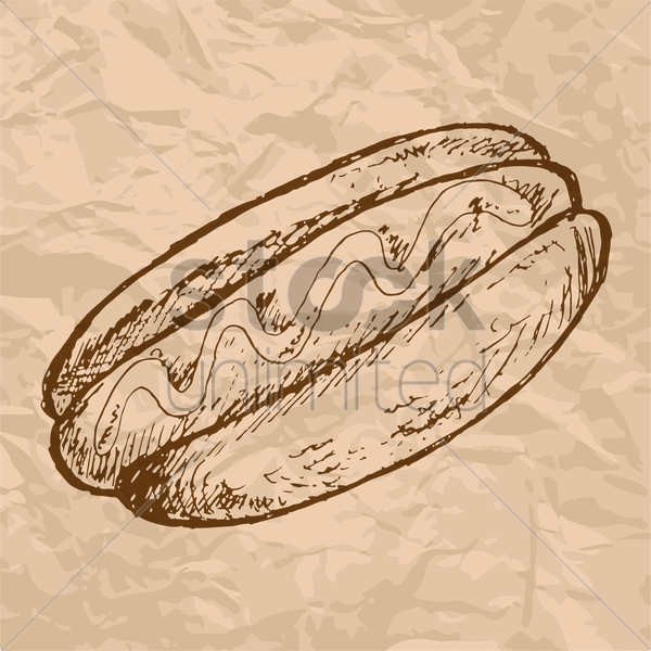 Free hot dog vector graphic