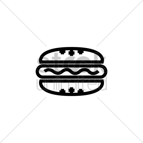 hot dog vector graphic