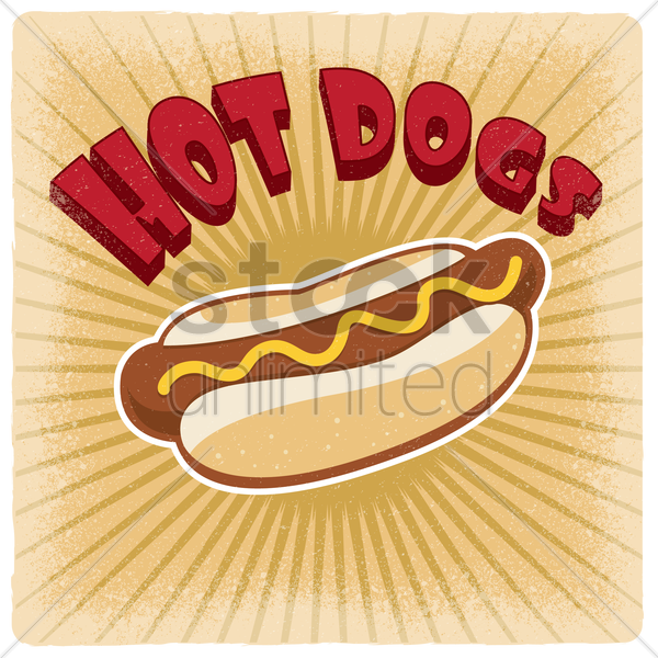 hot dogs wallpaper vector graphic