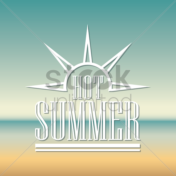 hot summer wallpaper vector graphic