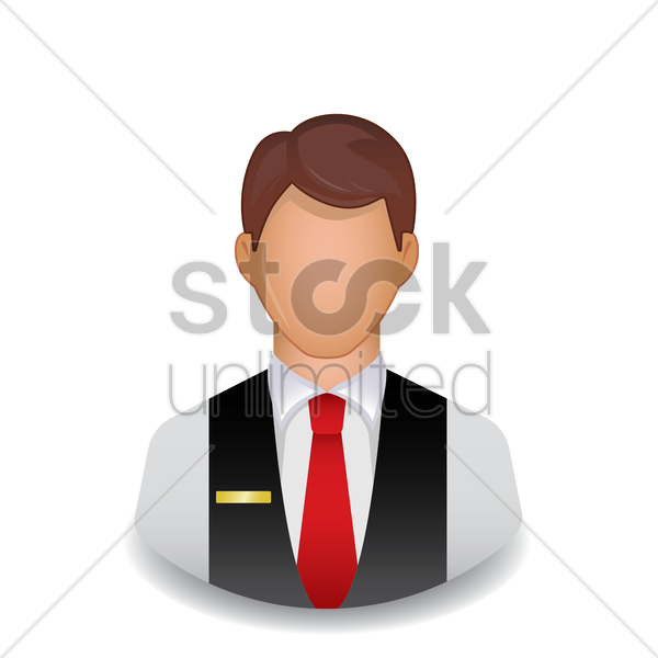 hotel staff vector graphic