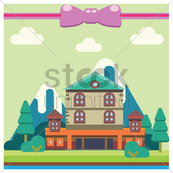 house background vector graphic