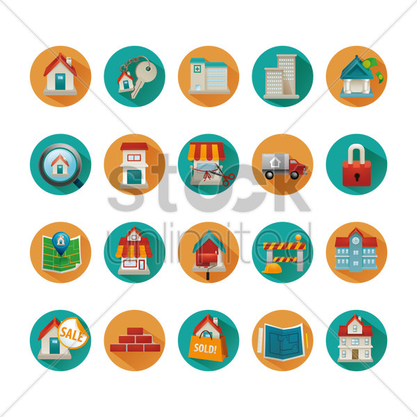 Free house icons vector graphic
