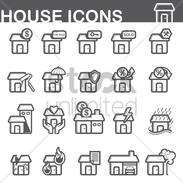 house icons vector graphic