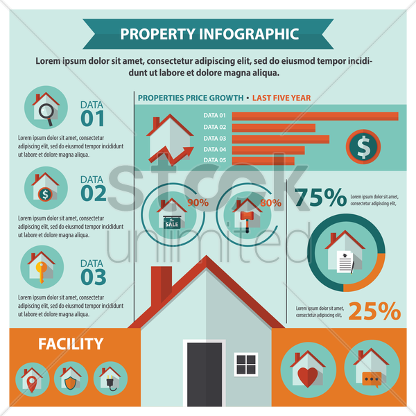 house infographic representation vector graphic