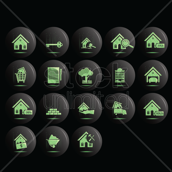 housing collection vector graphic