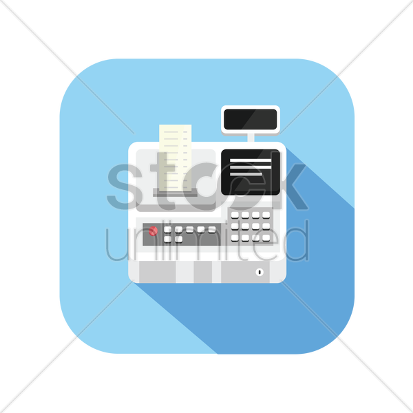 icon of a cash register vector graphic