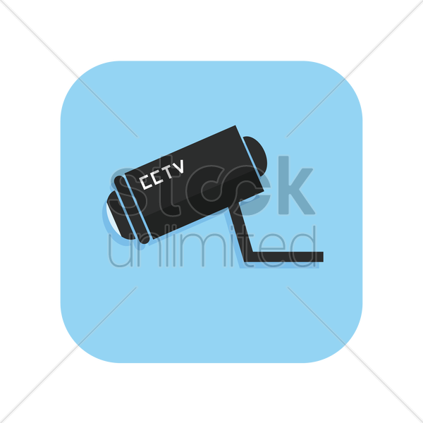 icon of a cctv camera vector graphic