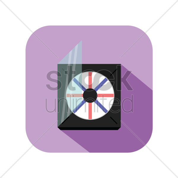 icon of a cd with its cover vector graphic