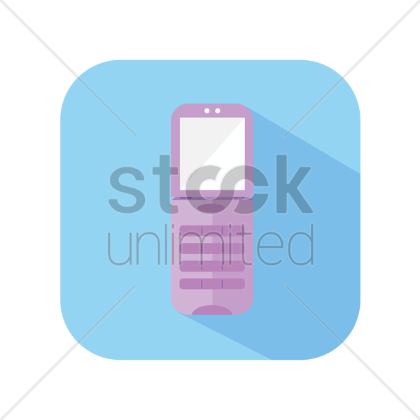 icon of a cellphone vector graphic