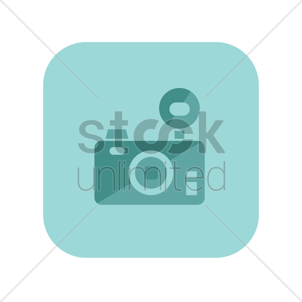 icon of a digital camera vector graphic