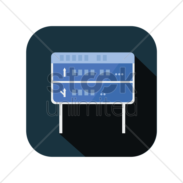 icon of a direction board vector graphic