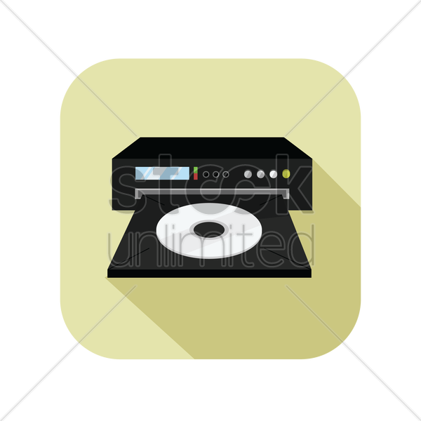 icon of a dvd player vector graphic