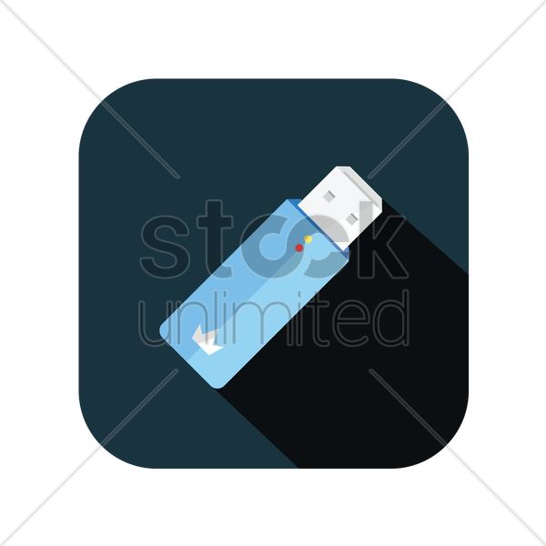 icon of a flash drive vector graphic