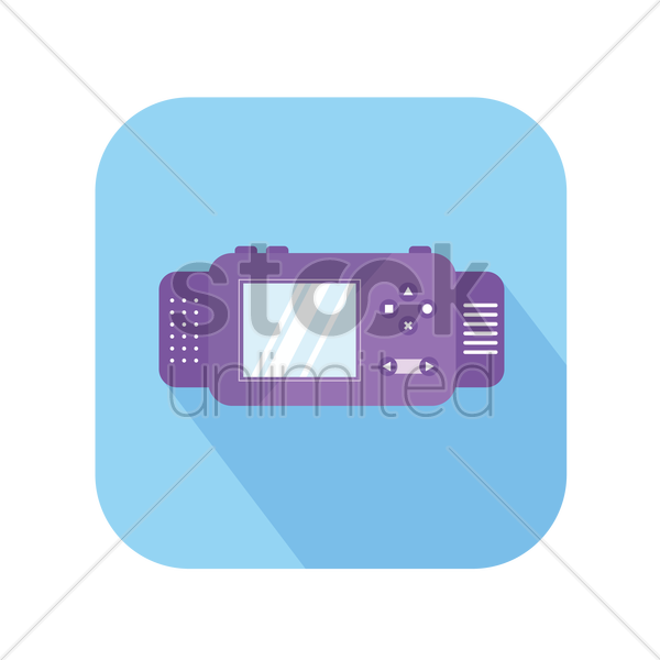 icon of a gaming console vector graphic