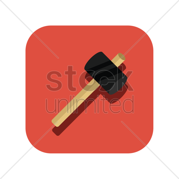 icon of a hammer vector graphic