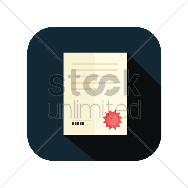 icon of a legal document vector graphic
