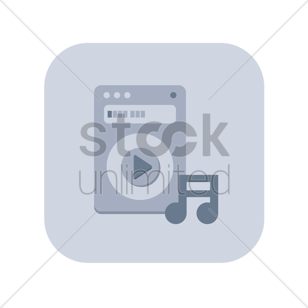 icon of a music player vector graphic