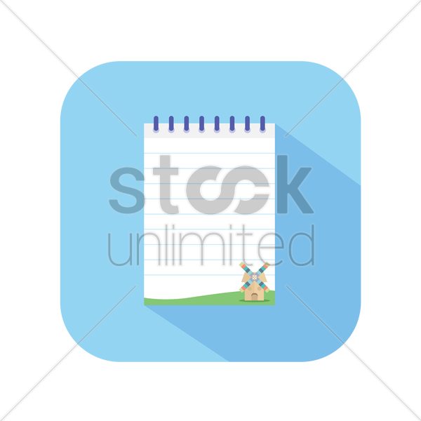icon of a notepad vector graphic