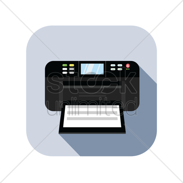 icon of a printer vector graphic