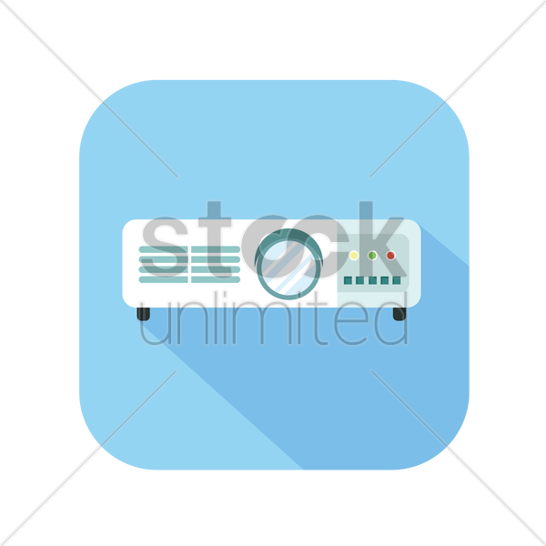 icon of a projector vector graphic