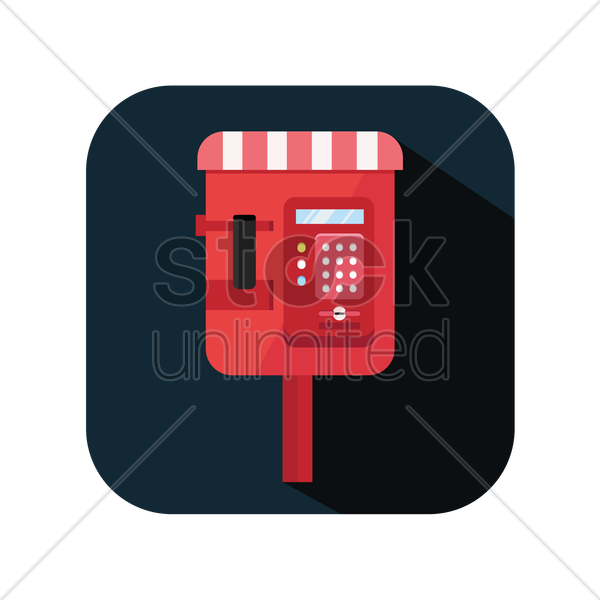 icon of a public phone booth vector graphic