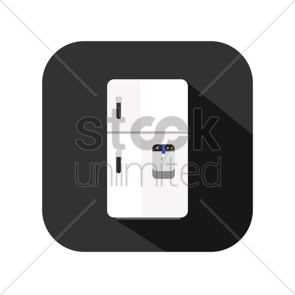 icon of a refrigerator with dispenser vector graphic