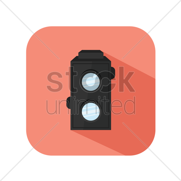 icon of a retro camera vector graphic