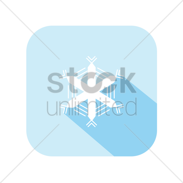 icon of a snowflake vector graphic
