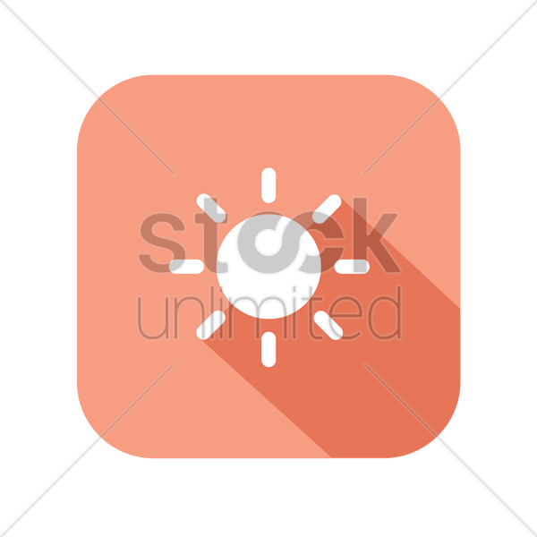 icon of a sun vector graphic